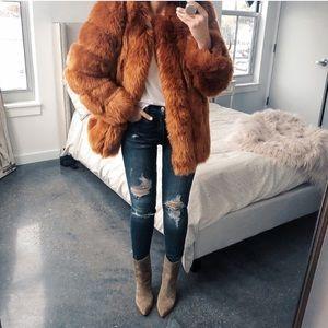 Jackets & Blazers - amo couture chestnut renaissance fur coat